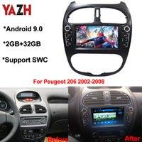 YAZH Android 9,0 2 + 32GB автомобильный DVD-проигрыватель компакт-дисков для Peugeot 206 FM-радио 2002 2003 2004 2005 2006 2007 2008 автомобиль мультимедиа