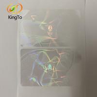 86 * 54mm trasparente libero Adesivo personalizzato ologramma Overlay Adesivo per carte d'identità