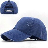 간단한 빈티지 야구 모자 여성은 여성의면 포니 테일 야구 모자 소녀 스냅 백 힙합 팝 모자 블랙 낚시 모자를 씻어