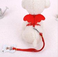 Ángel lindo del animal doméstico del perro de perrito y collares Conjunto potenciales para gatos pequeños perros de diseño del ala ajustable arnés del perro de animal doméstico Accesorios GD684
