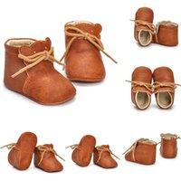 Erste Wanderer Weiche Leder Bär Kleinkind Babymädchen Jungenschuhe Prewalker Anti-Rutsch Mokassins Kinder Kinder Shoess