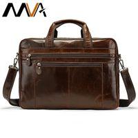 MVA genuine leather bag mens briefcase office bags for men messenger bag laptop business leather handbags men computer bags