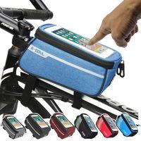 Sacoche Nylon imperméable vélo Cyling Mobile Cell Phone Sac Case 5.5 « Tube » 6 « » vélo Sacoches Cadre avant Sacs Accessoires