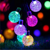 30 Bulbs LED String Lights Solar Powered Waterproof Crystal ...