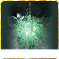 İtalyan Tasarımcı Modern Sanat Cam Yeşil Avize Lambalar Dale Chihuly Stil LED Işık Kaynağı% 100 El Üflemeli cam Avizeler