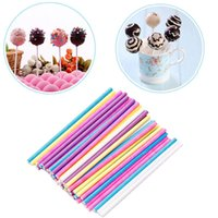 50 100pcs Color Cotton Candy Lollipop Paper Stick Fondant Ch...
