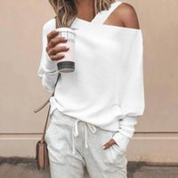 Elegant Women Sweaters and Pullovers 2019 Autumn Off Shoulde...