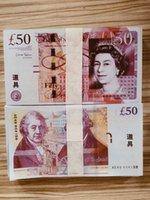 Nachtclub Bar British United Kindom Banknoten 50 Pfund Hinweis zur Sammlung oder geschäftsgeschäftsgeschenke Requisite und fake Geldpapier GBP Preise Rechnungen 19