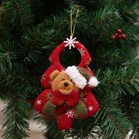 عيد الميلاد غير المنسوجة شنقا دمية شجرة عيد الميلاد المعلقات بابا نويل ثلج الدب زخرفة عيد الميلاد شجرة عيد الميلاد الباب شنقا قلادة FFA4329B