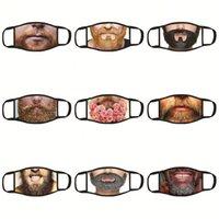 Maschere ultravioletta Prova respiratore Moda traspirante panno di fronte antipolvere Mascarilla adulti stampa 3D Espressione Spoof Disponibile 3 9dga D2
