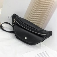 Leather Waist Bag Fanny Pack Women Small Simple Pocket Bag Versatile Shoulder Messenger Bags Black 2019 heuptas wandelen White