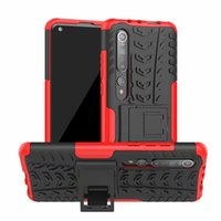 2 in 1 Hybrid KickStand Impact Rugged Heavy Duty TPU+PC case Cover for XIAOMI 10 LITE CC9 PRO 50PCS/LOT