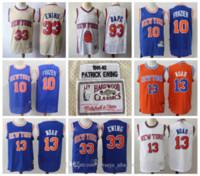 Vintage 33 Patrick Ewing New YorkKnicks Jersey 13 Joakim Noé Retro Mitchell Ness 10 Walt Frazier Hardwoods Classics Basketball Camisas