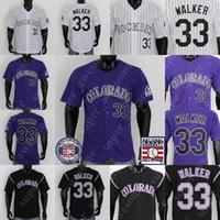 33 لاري ووكر جيرسي قاعة البيسبول من الشهرة الفانيلة الأبيض الأرجواني الأسود