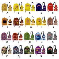 Backwoods السيجار حقيبة ظهر 3 قطع مجموعة 3d طباعة السفر المحمول حقيبة مدرسية مع الكتف والقلم vape حقيبة للرجال الأولاد الإفطار الأزياء