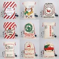 Elks Teslim Santa Sacks Merry Christmas Süsleri Tuval İpli Çanta 2020 Süsleme Ağır Kese Hediyeler Şeker 10 9bya C2