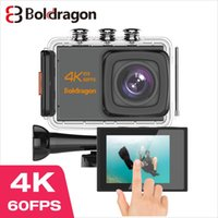 "Boldragon B39 Eylem kamera 4K 60fps 20MP EIS 2.0"" IPS dokunmatik LCD Dual MIC WiFi kamerası yanlısı Sualtı Kask go Sport Video Kamera"