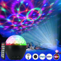 Bunte Sternenhimmel Projektor-Nachtlicht Bluetooth Musik-Player Magic Ball LED für KTV Stadiums-Partei USB Laser-Kristall Voice Control-Lautsprecher