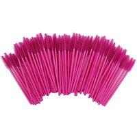 2000Pcs Pack Disposable Micro Eyelash Brushes Mascara Wands Eye Lashes Extension Rose Professional Makeup Brushes Set Kit Tool