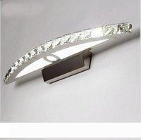 Lâmpadas de banheiro LED de cristal 5 9 11w montagem espelho de parede chumana luzes de vaidade lâmpada de quarto e quadrado