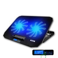 12-16 Inch Işık LCD Ekran Dizüstü ve Stand Pad 6 Soğutma Hayranları ve Double USB bağlantı noktaları Dizüstü Soğutucu Soğutma Dizüstü