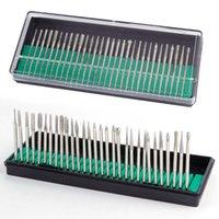 30pcs Nail Drill bit impostati Bit pedicure per manicure macchina 2,35 asta lucidatura testa stridente di ricambio Set fresa