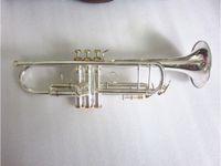 Sıcak Satmak LT180S-37 Bach Trompet B Düz Gümüş Kaplama Profesyonel Trompet Müzik Aletleri Güzel Kılıf Ücretsiz Kargo