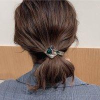 Saç Aksesuarları İçin Kadınlar Moda Alaşım Kakma Elmas Tie At kuyruğu Headdress Saç Halka Kore Sürüm Nefis Bow Halat Toptan