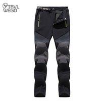 Pants Men Winter Fleece Softshell Keep Warm Hiking Camping Running Outdoor Bikeing Climbing Travel Trousers