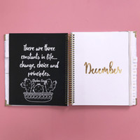 Custom High Quality 6 Ring Binder Weekly Diary Planner 2020-...