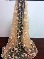 nouveau tissu de dentelle africaine 3D tissu en dentelle douce lumière textile broderie fleur net tissu en dentelle de tulle français de haute qualité
