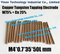 (5PCS ПАК) М4 * 0,7 * 35L * 50Lmm Медь вольфрама Орбитальный Выявляющий электрода CuW75, EDM W75 вольфрама медный электрод с резьбой М4, Шаг 0.7