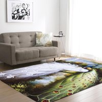 With Gift 3D Peacock Print Living Room Carpet kids Bedroom R...