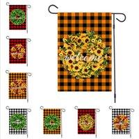 Bandiere di Buon Natale Lino Giardino Natale Garland Plaid Designers Banner 47x32cm Hanging Banner Bandiere partito decorazione esterna Articoli da regalo D92506