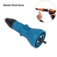 Azul Amarelo elétrica Rivet Nut Gun Rebitando ferramenta sem fio Rebitando Perfurar adaptador Inserir Nut Ferramenta Rebitando Perfurar Adapter 2,4 milímetros-4,8 milímetros