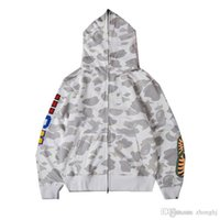 Black White Camo Luminous Casual Camisola encapuçado Adolescente Esporte Hip de Homens New atacado Hop Zipper Cardigan Hoodies