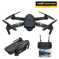 E58 FPV WIFI avec grand angle HD 1080P / 720P Caméra Hight Mode Hight Mode Pliable ARM RC Quadcopter Drone X Pro RTF Dron