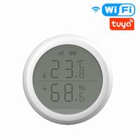 Capteur de température et d'humidité de contrôle de la maison intelligent avec écran d'écran LCD Travail TUYA ZIGBEE HUB Batterie alimentée