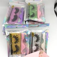 Faux 3D Mink Eyelash Hot Styles Glitter Natural Soft Light False Eyelashes Extension With Eye Lash Tweezer Brush Makeup Lashes