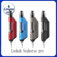 Lookah Seahorse pro Verdampfer neuer Wachsstift Quarz Coil Variable Voltage Starter-Kit für Dab rig 100% authentisch heiß beliebt