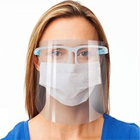 Full Face Protective Mask WIth Goggles Transparent Anti Fog Reusable Safety Face Shield Anti Dust Splash Clear Masks DDA341