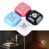 LED sans fil capteur Veilleuse alimenté par batterie infrarouge PIR activé par le mouvement Capteur de lumière pour mur Lampe Cabinet Escaliers