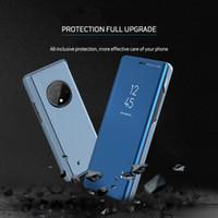 Coque Téléphone en cuir PU pour Oneplus 7T 7 PRO 6 6T 5T Cas Smart View Smart Mirror Flip Stand Cover pour Oneplus 8 8 Pro 8Pro