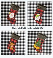 Santa Claus подарочная сумка рождественские носки украшения крышка кулон лося деревьев плед ткань