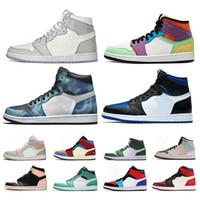 2020 scarpe di alta qualità Jumpman 1s pallacanestro Obsidian Baron torcia Hare Gioco Reale Uomo Donna Sport Trainers pino verde Racer Blu Sneaker