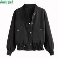 Jacket Women Casual Cool Zipper Button Jackets Coat With Poc...