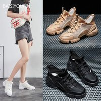 Sneaker Fashion Women Shoes Genuine Leather Casual Round Toe Cross-tied 6cmHigh Casual Student Fenale Shoes Spring Autumn Winter