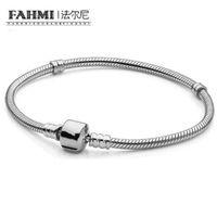 Фаая Аутентичные 925 стерлингового серебро золота 14K цвета классических пряжки змеи кость Bracele DIY браслета для женщин оригинальных украшений 8014