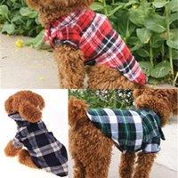 Plaid Cute incanta cucciolo cane Abbigliamento Chien Dog Canottiere Animal Shirt Pet Supplies gatto abiti sottile Bretagna Summer Style 4LQ C2