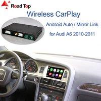 لاسلكية أبل CarPlay الروبوت واجهة السيارات لأودي A6 A7 2010-2011، مع مرآة لينك لعب وظائف البث السيارات